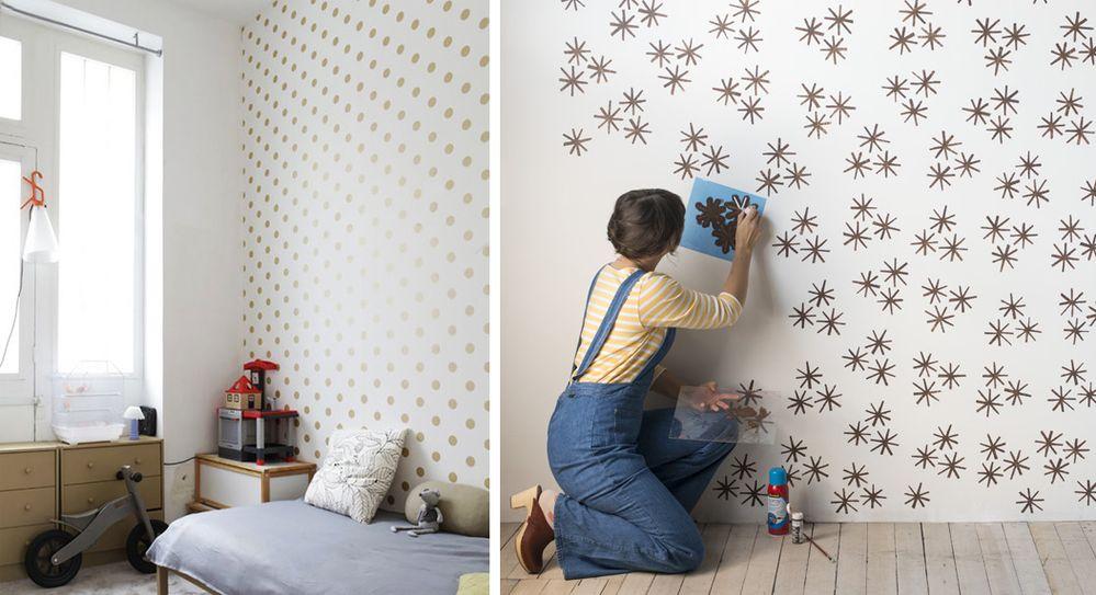 Come stendere gli stencil a parete